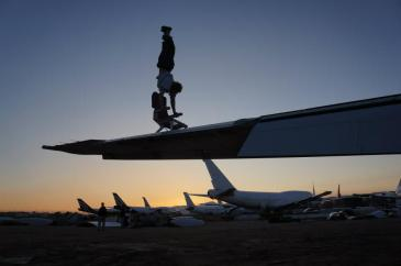 At the Aircraft Boneyard in the California desert