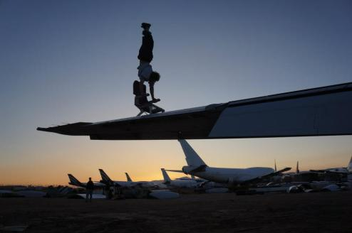 At the Aircraft Boneyard in the California desert